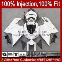 Bodywork Injection For DUCATI 848 1098 1198 S R 1198R 07 08 09 10 11 12 Body 18No.89 ALL White 848S 848R 1098R 07-12 1098S 1198S 2007 2008 2009 2010 2011 2012 OEM Fairing