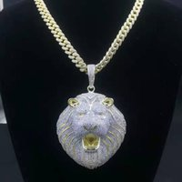 Hip Hop Bling Cha Jewelry Men Iced Out Pendant Luxury Designer Necklace Mens Gold Chain Pendants Diamond Cuban Link Rapper Fashi
