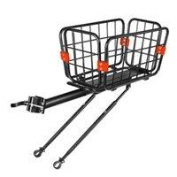 Racks de caminhão de carro 1 PC prático liga de alumínio Bike Cargo Cesta de armazenamento para (preto)
