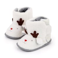 First Walkers 2021 Fashion Baby Snow Boots Winter Warm Born Shoes Soft Sole Plush Infants Boys Girls Christmas