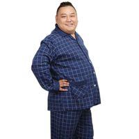 Sleepwear da uomo Plus Size XXXXXL 100% Cotton Men Pajama Set Primavera Simple Plaid Mens PIJAMAS PIJAMAS HOMME Abbigliamento casual da notte per maschio