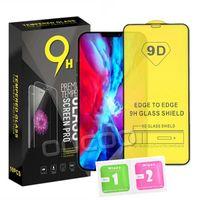 Protecteur d'écran de téléphone en verre trempé en verre Tempéra 9D pour iPhone 12 Mini Pro 11 XR XS MAX 8 7 6 Samsung Galaxy S21 Plus A32 A42 A52 A72 4G 5G A51 A71 A02S avec paquet de détail
