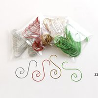20 sztuk / worek Hook do dekoracji choinki Metalowe 50mm Hook Ozdoby Akcesoria HWB10288