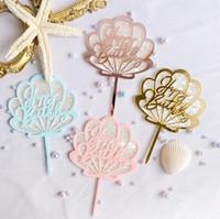 Buon compleanno torta topper rifornimenti acrilici da forno torta inserto decorazione cupcake wedding compleanno festa decorazione torta top flag YL330