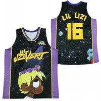 Männer # 16 Lil Uzi Vert Hip Hop Rap Basketball Jersey genäht