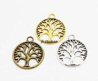 Ağacın Hayatı Charms Vintage Gümüş Altın Bronz Bitkiler DIY Moda Takı Aksesuarları Tedarikçiler için Takı 24 * 20mm