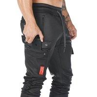 Men's Multi-pocket Fitness Sport Trousers Outdoor Gym Running Training Slacks Jogging Squats Sweatpants Cargo Pantsea7c