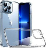 LHQ Cell Phone Cases Suitable for iPhone 13 Pro Max, Scratch-Resistant Back, Grippy Protective Frames, Classic Series, Clear