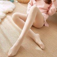 80D velvet pantyhose in sprg and autumn, th slightly thick, bare legged bottom socks light flesh colored silk stockgs