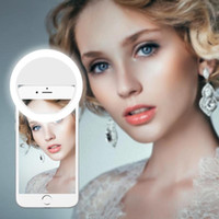 LED Selfie Ring Light Новизна Легкий Портативный Мобильный телефон Универсальные Selfie 36 Светодиоды Светодиодные Световые Кольцо Клип Фотография Лампа
