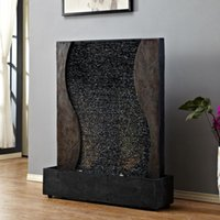 Water Curtain Wall Fountain Water Wall Living Room Feng Shui...
