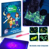 Highlighters A3 A4 A5 3D Magic Drawing Board Children Clipboard Set LED Writing Creative Art With Pen Kids Gift