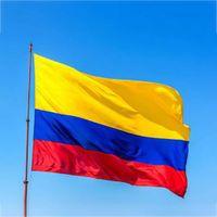90 * 150 cm Kolombiya Cumhuriyeti bayrak afiş 3x5ft Kolombiyalı Güney Amerika Polyester hayranları tezahürat bayrakları parti süslemeleri DHL gemi WX9-1454