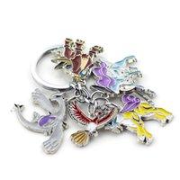 GO Keychain Cartoon Cute Pocket Monster Figures Metal Pendant Keyrings For Women And Men Fashion Car Key Chain