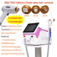 Professional 3In1 Eyebrow Face Body Hair Removal Machine 755nm 808nm 1064nm 3 Wavelength Diode Laser Beauty Equipment