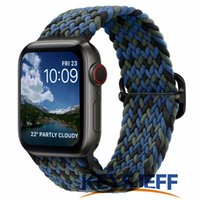 Braided Strap Compatible with Apple Watch Bands 45 41mm 44 40mm 42 38mm Elastic Solo Loop Sport Bands for iWatch Series 7 6 5 4 3 2 1 SE 84007