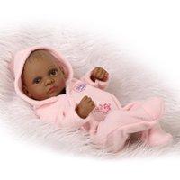 Plein Body Silicone Reborn Bébé Dolls Reborn Baby Fains Reborn 11 pouces Real Real Jeune-né Baby fille Silicone poupée réaliste HWF5301