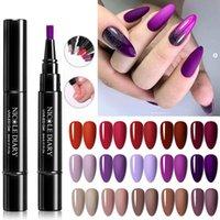 Diario Nicole Diario Faster Shipping Purple Nail Gel Vernice Pencilina One Step Gel Nail Pen Nessuna necessità Base superiore 3 in 1 Polish glitter UV
