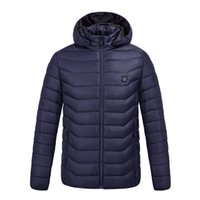 Hooded 9 Places Heated winterElectric heating jacket USB interface Electric heatings hoodeds cotton camping hiking warm jackets