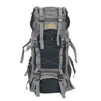 Noir chevalier sac à dos pliable imperméable sac à dos grand sac avec couvercle de pluie Camping Randonnée Trekking Sport Voyage Sacs d'escalade