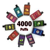 Ykang box 4000 Puffs Одноразовые Vape Pen 550mah Перезаряжаемая батарея 10ml Картриджи Vape 5% Flavr 10 Цветов Ecigarette Elf Bar