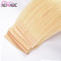 Али Волшебная лента в человеческих наращиваниях волос Сновалые волосы Зажимы для волос Уток Бочки Девственные Волосы 14-26 дюймов Быстро надеть и удалить новый продукт