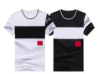 2021 Casual Brand Lettera maschile Stampa Hip Hop Tops Streetwear Tee Shirt per uomo Summer Men Pullover T-shirt manica corta in cotone manica corta # 6803 T-shirt