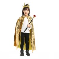 Christmas Boys Girls Princess Cloak Prince Crown Sceptre King Queen Birthday Party Halloween Costume for Kids CosplayCarnival Q0910