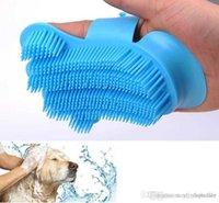10 pcs pente de escova de cachorro para grooming luvas de cachorro dedo dedo limpeza de cabelo escovas Novo silicone macio pet luva ferramentas de massagem
