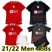 2021 2022 Bristol City Futbol Formaları Robins Paterson Wells Semenyo Martin Weimann Erkekler Çocuk Kitleri Tam Setleri Maillot de Futbol Gömlek