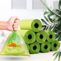 8 rolos / caixa do cão bolsa de cocô degradação descartável sacos de lixo capa para toaletes sacos de lixo de lixo ao ar livre lixo limpo ao ar livre