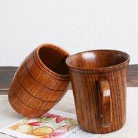 Café quente canecas Madeira proteção ambiental Log renovável caneca de chá de madeira caneca rosas xícaras de chá de chá verde xícaras zc031