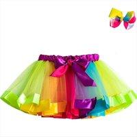 Tutu baby girl 3 zu frauen röcke 8yrs prinzessin mini pettiskirt party tanz regenbogen tüll mädchen kleidung kinder
