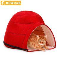 Кошка кровати мебель RFwcak мода съемные зимние теплые домашние животные гнездо собака мягкая ткань дома Юрты для мелких средних собак Pet Products