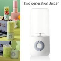 Saft-Saft-Tasse 500ml Handheld-Mixer tragbarer Entsafter 6 Klingen-Mischer aufgeladener elektrischer Prozessor Schnelle Früchte