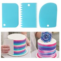 Baking & Pastry Tools 3PCS Lot Cream Scraper Smoother DIY Cake Decorating Fondant Cutters Spatulas Molds Kitchen Scrapers