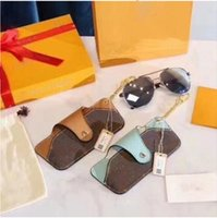 노안 안경 가방 남성과 여성 휴대용 압력 방지 선글라스 저장 글라스 케이스, 고글 클립, Sunglasse 가방 펜던트 선물