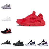 Satış 2021 Yeni Airs Huarache 1.0 4.0 Erkekler Koşu Ayakkabıları Ucuz Şerit Kırmızı Balck Beyaz Gül Altın Huaraches Kadınlar Eğitmen Nefes Tasarımcı Sneakers F23