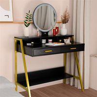 Мебель для спальни Простой комод Flip Одиночное черное поддолет зеркала с таблицей двойных ящиков