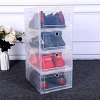 Addensare Cancella scatola di scarpe in plastica antipolvere sneaker sneaker cassetti flip trasparente impilabile boxesshoes contenitori contenitori cabinet wzg hp0659