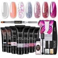 Rosalind UV Kedi Göz Glitter Poli Tırnak Jel Uzatma Üst Baz Coat Akrilik Manikür Nail Art Set