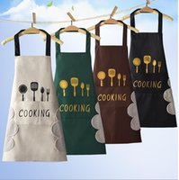 Cooking Apron Waterproof Adult Oil Proof Apron Kitchen Pinafore Restaurant Aprons Woman Can Wipe Hands Apron Fork Print Pattern