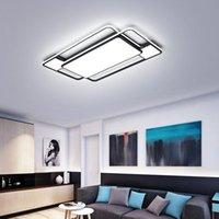 جديد مربع / مستطيل الحديثة LED سقف lihgts لغرفة المعيشة غرفة دراسة غرفة نوم أضواء أسود الصمام مصباح السقف مصابيح الإضاءة