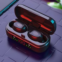 Factory Outlet V8 TWS Wireless Earphones Bluetooth Earphone 5.0 9D Bass Stereo Waterproof Earbuds Handsfree Headset With Microphone Charging Case