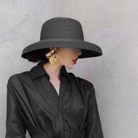 Maxsiti u verano estilo hepburn estilo vintage sombrero de paja mujeres niñas color sólido color vacaciones gran sol gorra c0305 y0910