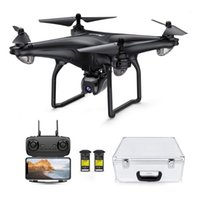Potenssic GPS-Drohne mit 1080p HD-Kamera FPV-Live-Video für Erwachsene und Kinder RC-Quadkopter-Tragetasche 2 Batterien einfach zu bedienen