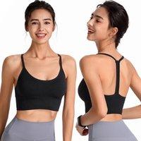 Soutien-gorge de sport pour les vêtements de gymnase pour femmes, Criss-Cross-Cross Rayded Brappy Brappy Bras Soutien de soutien moyen Yoga avec des tasses amovibles