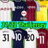 2021 2022 Aston Villa Camisas de futebol 21/22 Buendia El Ghazi Traoré GREALISH KODJA WESLEY McGINN WATKINS SANSON Luiz Homens crianças kits Football shirts