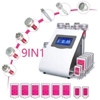9 In 1 Unoisetion Cavitation Radio Frequency Slimming Machine Skin Tightening Vacuum Cold Photon Laser 6 big 2 small Cellulite Removal