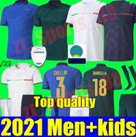 2021 Italia Soccer Jersey Home Aloy Away Juvenil 21 22 Sensi Belotti Jorginho El Shaarawy Insigne Verratti Bernardeschi Pellegrrime Kean Men + Kit Kit Football Shirts
